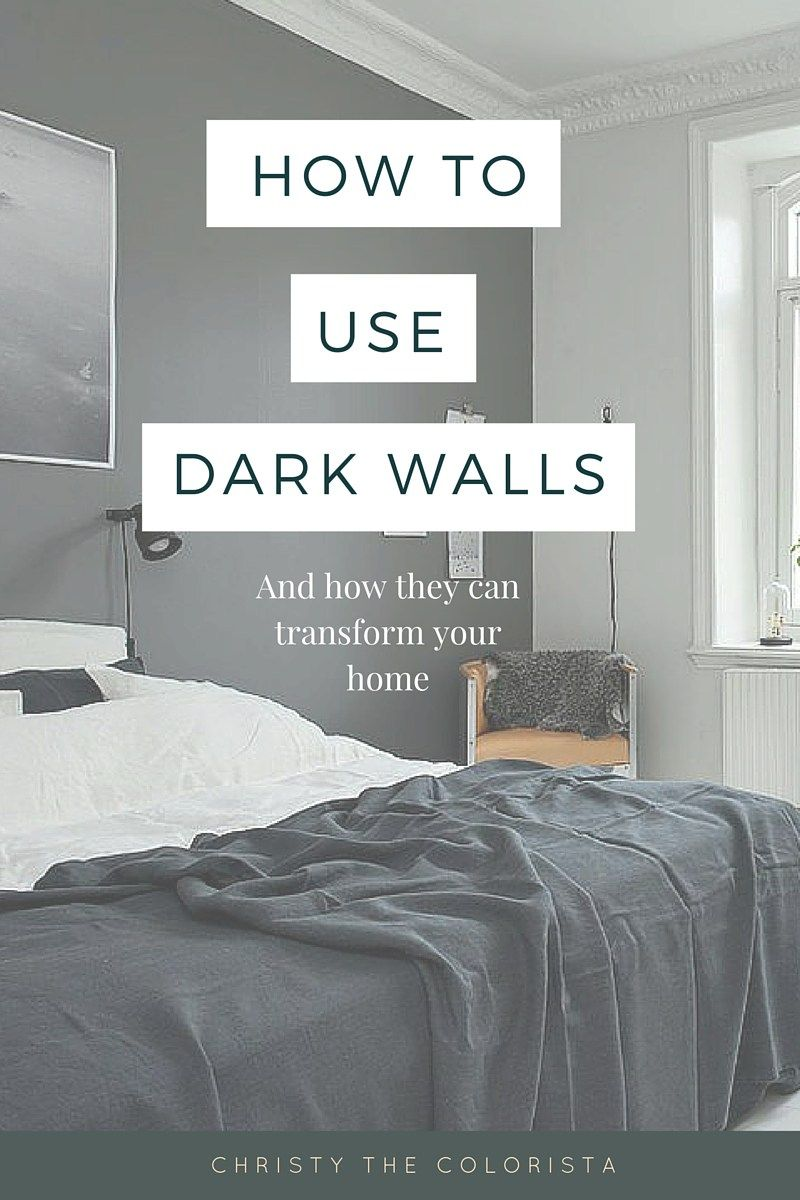 Shedding Some Light on Dark Walls  Bedroom paint colors grey