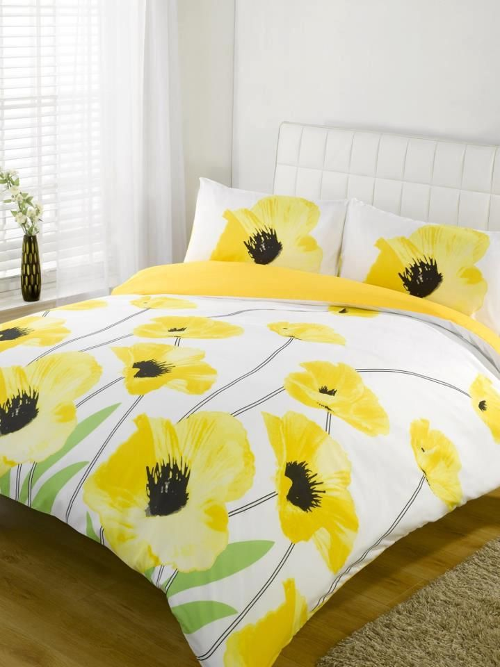 Yellow floral cotton bedding sets useful pinterest yellow floral cotton bedding sets mightylinksfo Image collections