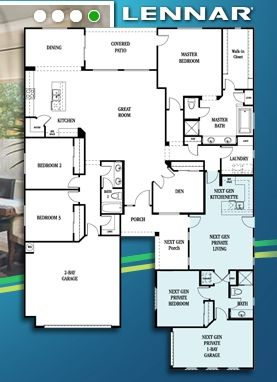 Lennar nextgen homes floor plans floorplan pinterest for Multigenerational home designs