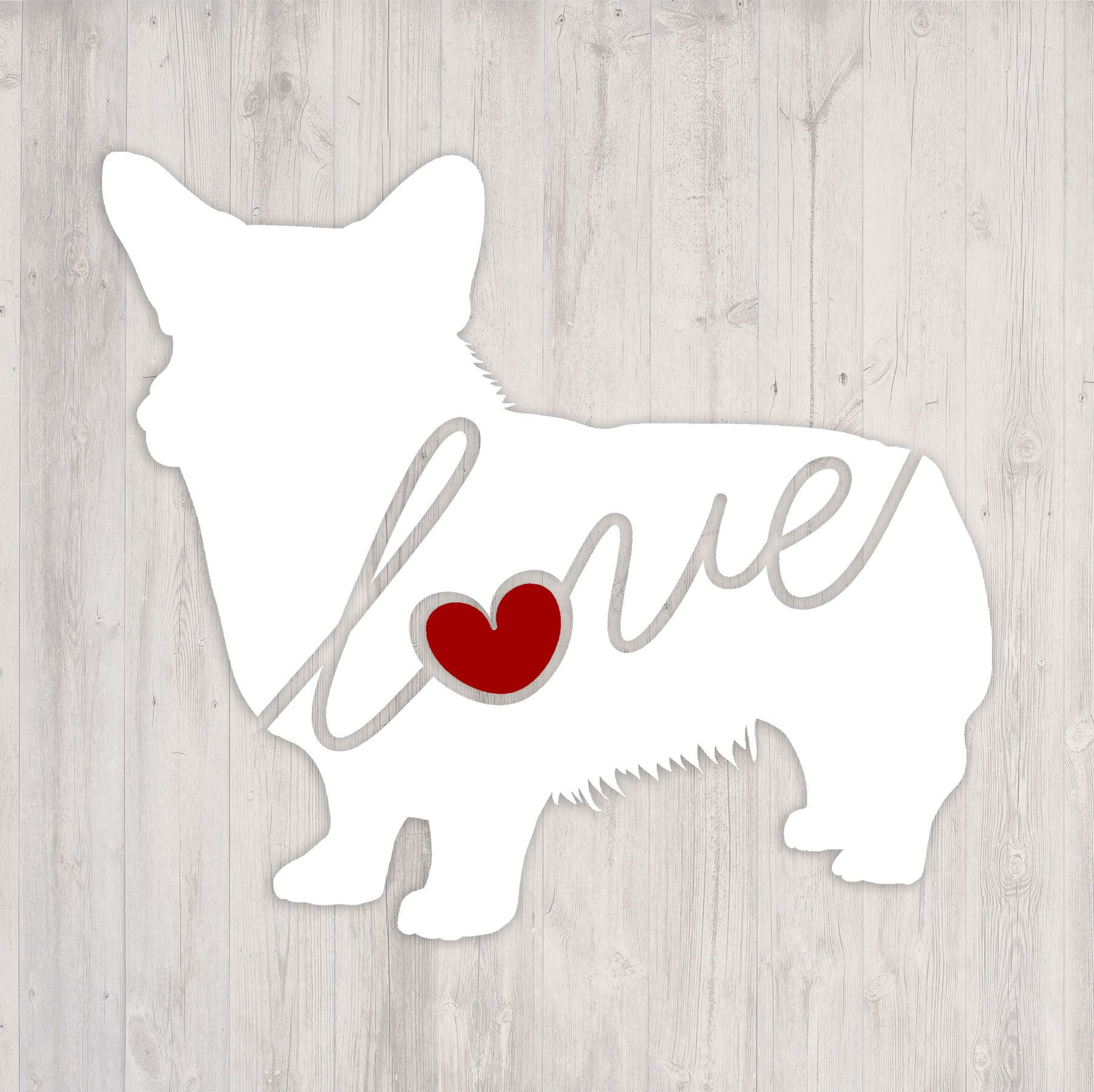 Welsh Corgi Love A Car Window Vinyl Decal Laptop Sticker Dog Breed Decals Dog Stickers Cooler Decal Gift F Dog Breed Decal Dog Gifts Dog Lover Gifts [ 1800 x 1802 Pixel ]