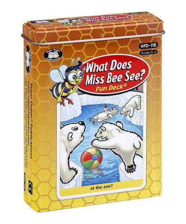 Look what I found on #zulily! What Does Miss Bee See? Fun Deck Game by Super Duper Publications #zulilyfinds