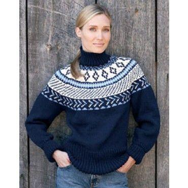 Mary Maxim Free Fair Isle Yoke Pullover Knit Pattern Free