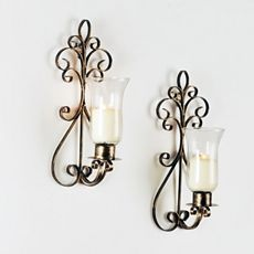 Portabello Sconce Set of 2 - Kirklands - i'm looking at these on the wall in my living room right now :)