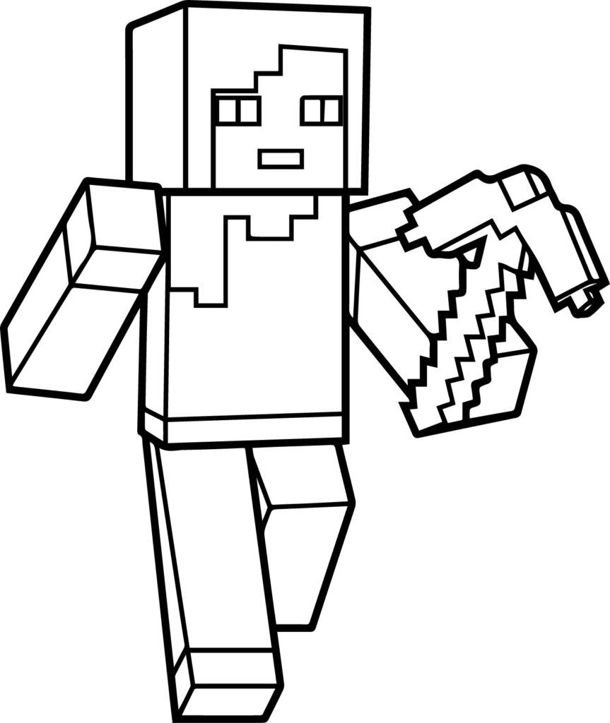 Minecraft Coloring Page Taking A Walk Minecraft Coloring Pages Minecraft Printables Printable Coloring Pages