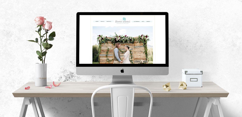 wedding website florist website web designer flower artistry responsive web design by modern luxe