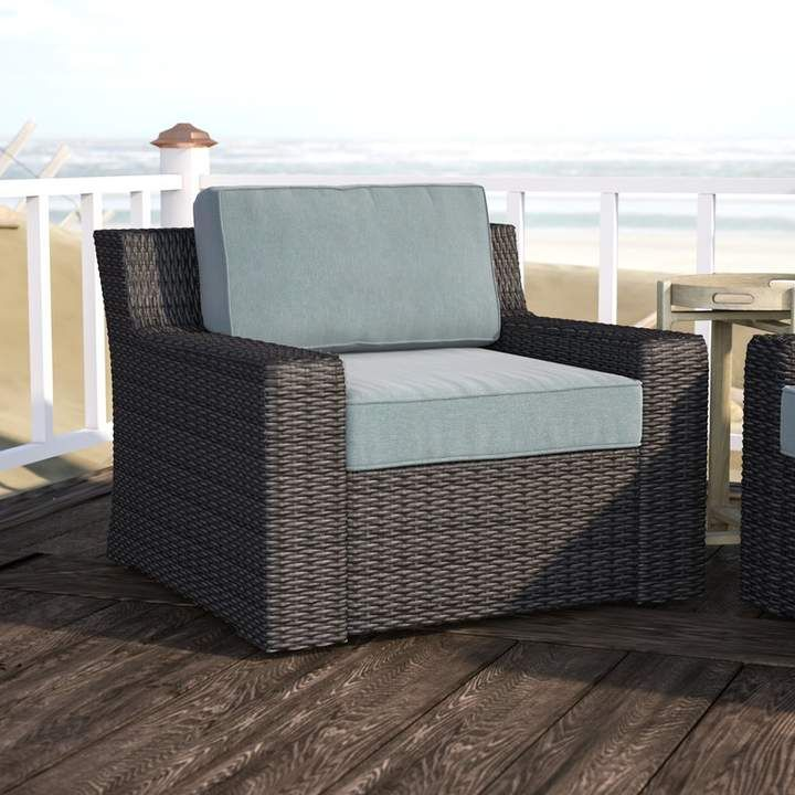 Beachcrest home linwood patio chair wood patio chairs