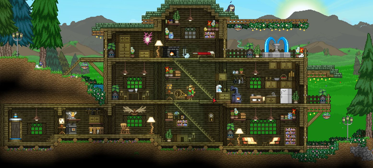 Starbound Cabin House Design By Redlace Starbound