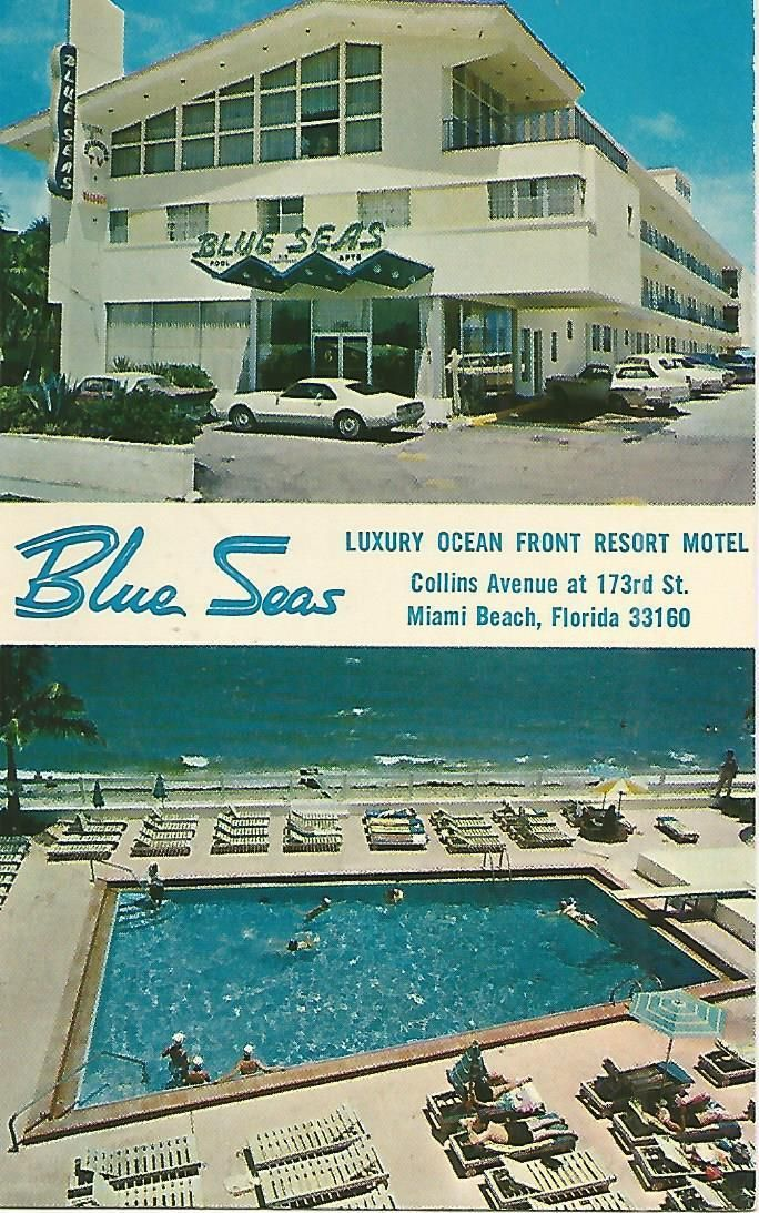 Ag T Blue Seas Luxury Ocean Front Resort Motel Miami Beach