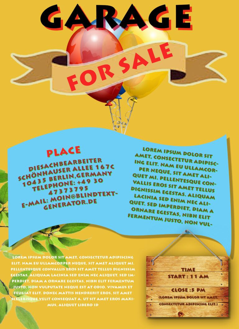 Free Printable Garage Sale Flyers Templates Attract More Inside