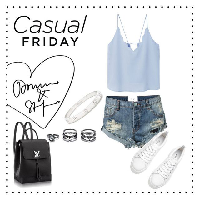 """•Casual Friday•"" by nicolefv29 on Polyvore featuring MANGO, One Teaspoon, Lulu*s and Cartier"