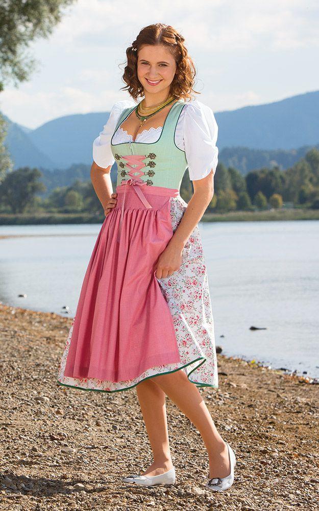 bd94be0b89f7b0 Chiemseer Dirndl & Tracht Online Shop - Blusendirndl Herzbach, mit Schürze