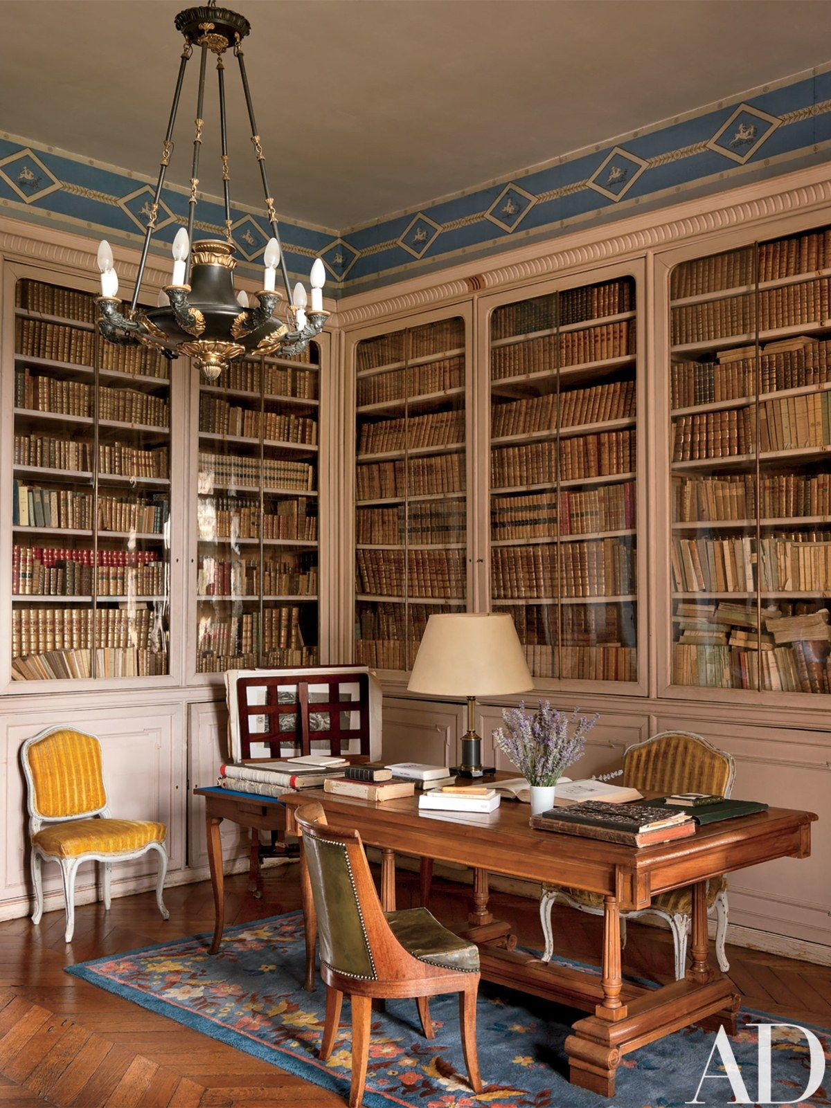 traditional office decor. Traditional Office/Library In Auvergne, France Office Decor