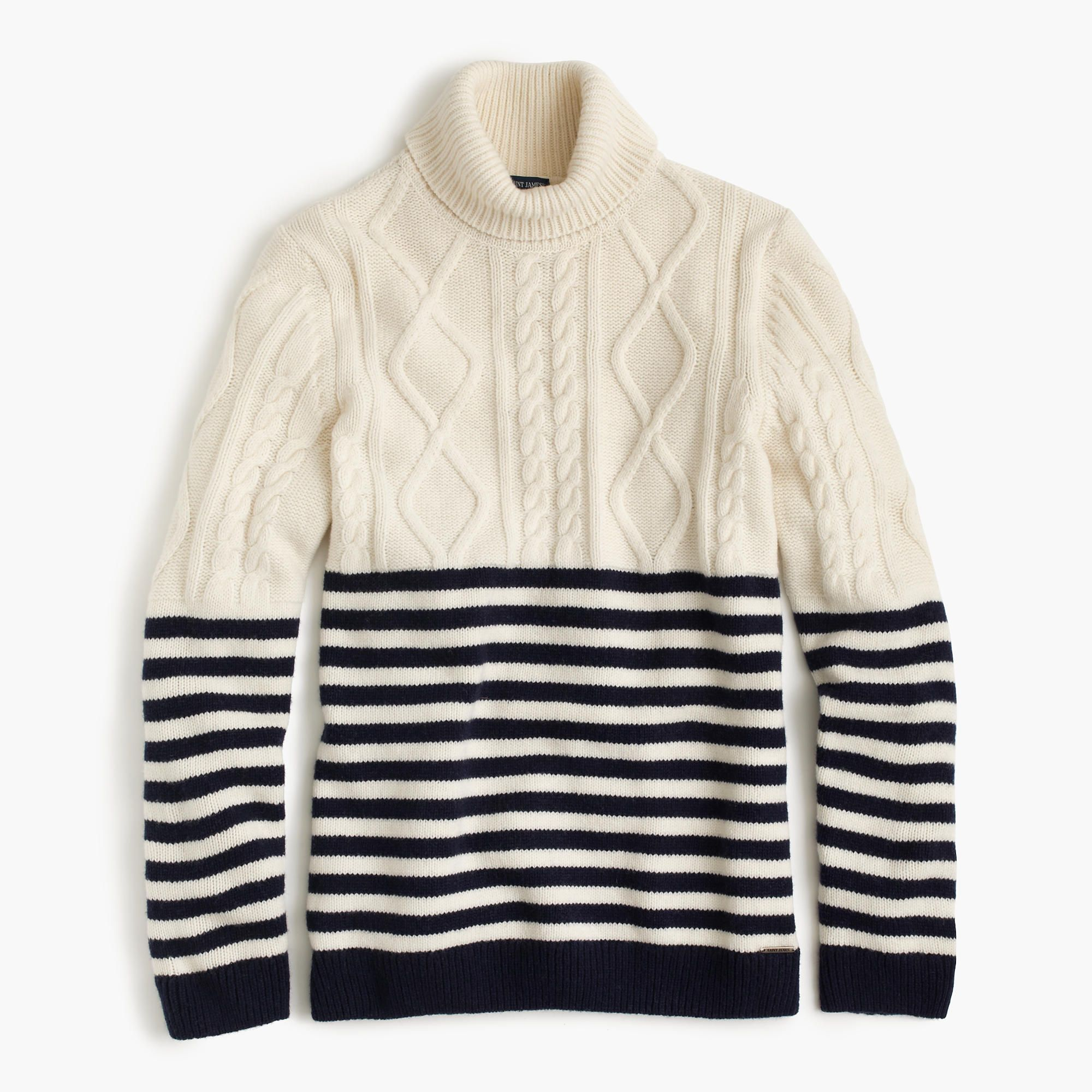 001feb5371 Saint James® Amos nautical turtleneck sweater | knitting & sewing ...