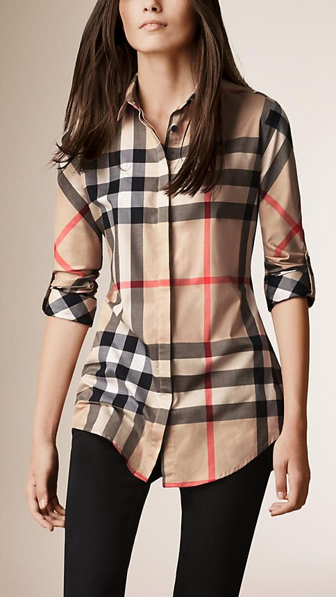 7fb5fbd28a4 Stretch-Cotton Check Shirt in New Classic - Women in 2019 | fashion ...