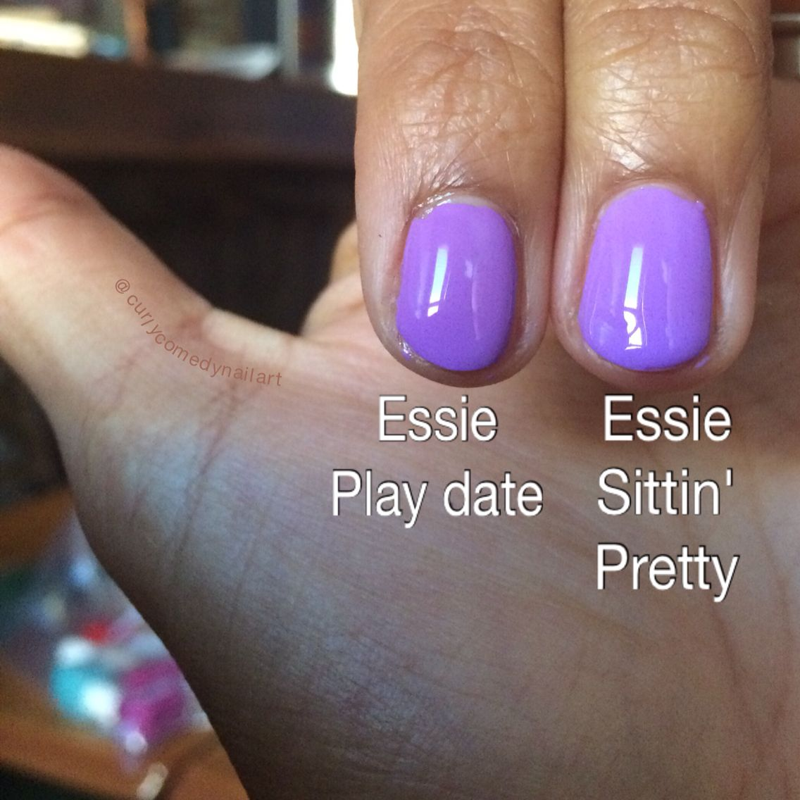 Essie light purple-off! | My Dupe Tests | Pinterest | Light purple ...