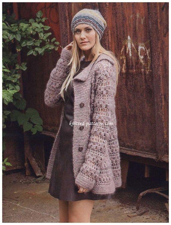 45 Crochet Women Sweater Coat Cardigan Free Patterns Open Front