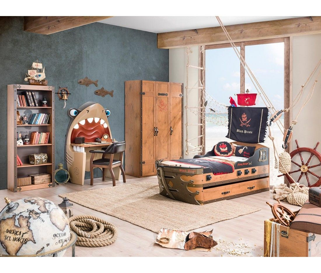 Captain S Armada Pirate Twin Ship Bed Pirate Bedroom Theme