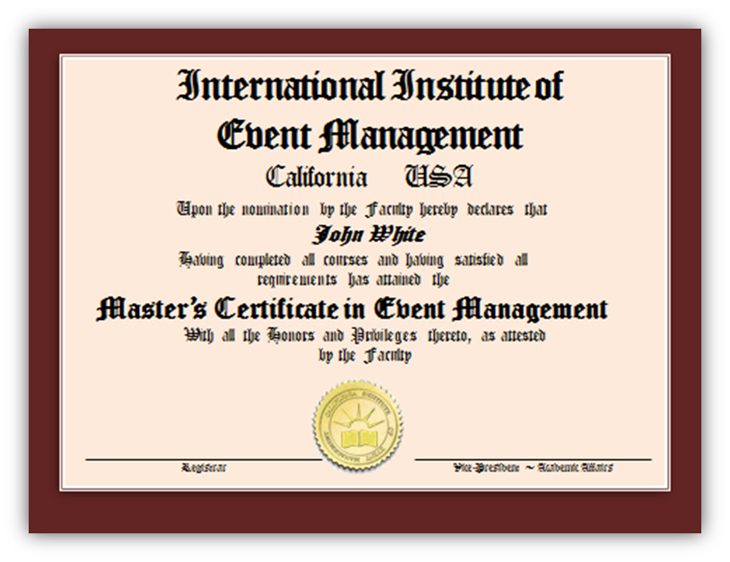 Anyone Know Of This School Or Make A Recommendation Event Planning Certification Event Management Courses Event Planning Courses