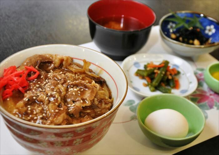 牛丼 beef bowl 牛丼 日本食