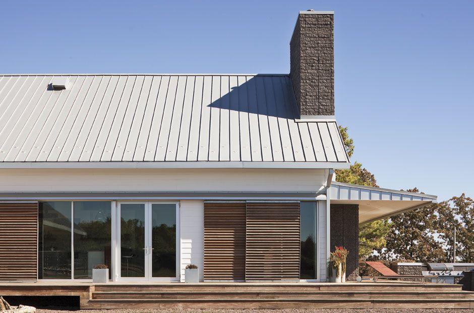 standing seam metal roof details modern farmhouse