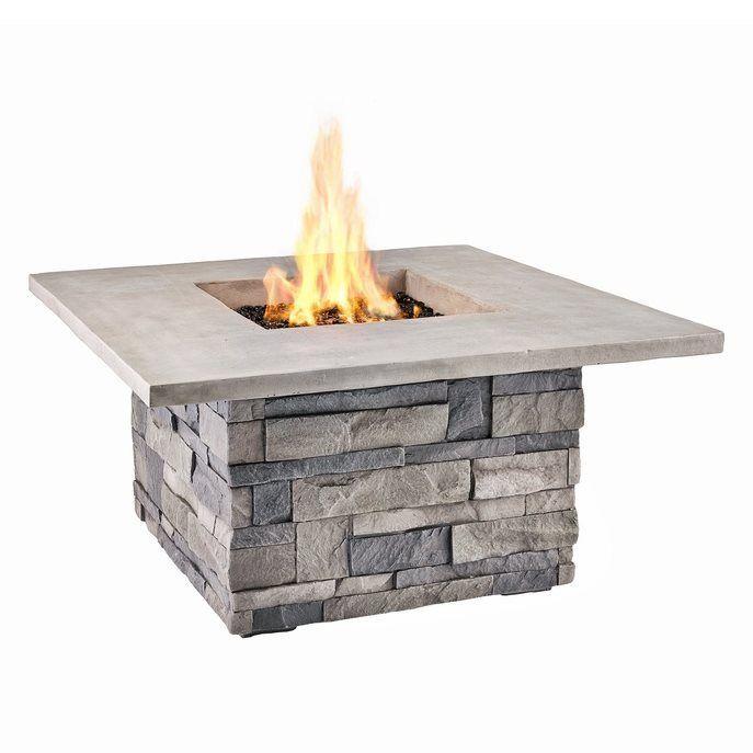 Real Flame 65 000 Btu Liquid Propane Square Fire Table Fire Table Fire Pit Fire Pit Furniture