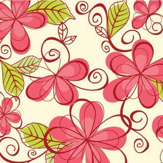 Vector gratis de Patrn con dibujos de flores  Dibujos