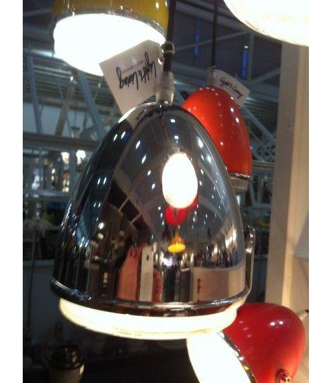 Light \ Living Deckenlampe Chrome Wohnzimmer Küche Lampe Upcycling - wohnzimmerwand rot