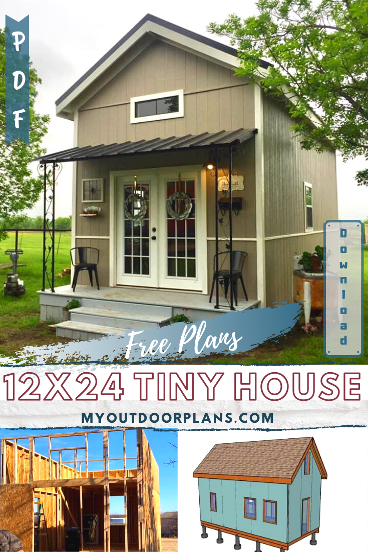12x24 Tiny House Plans In 2020 Shed To Tiny House Tiny House Loft Tiny Houses Plans With Loft
