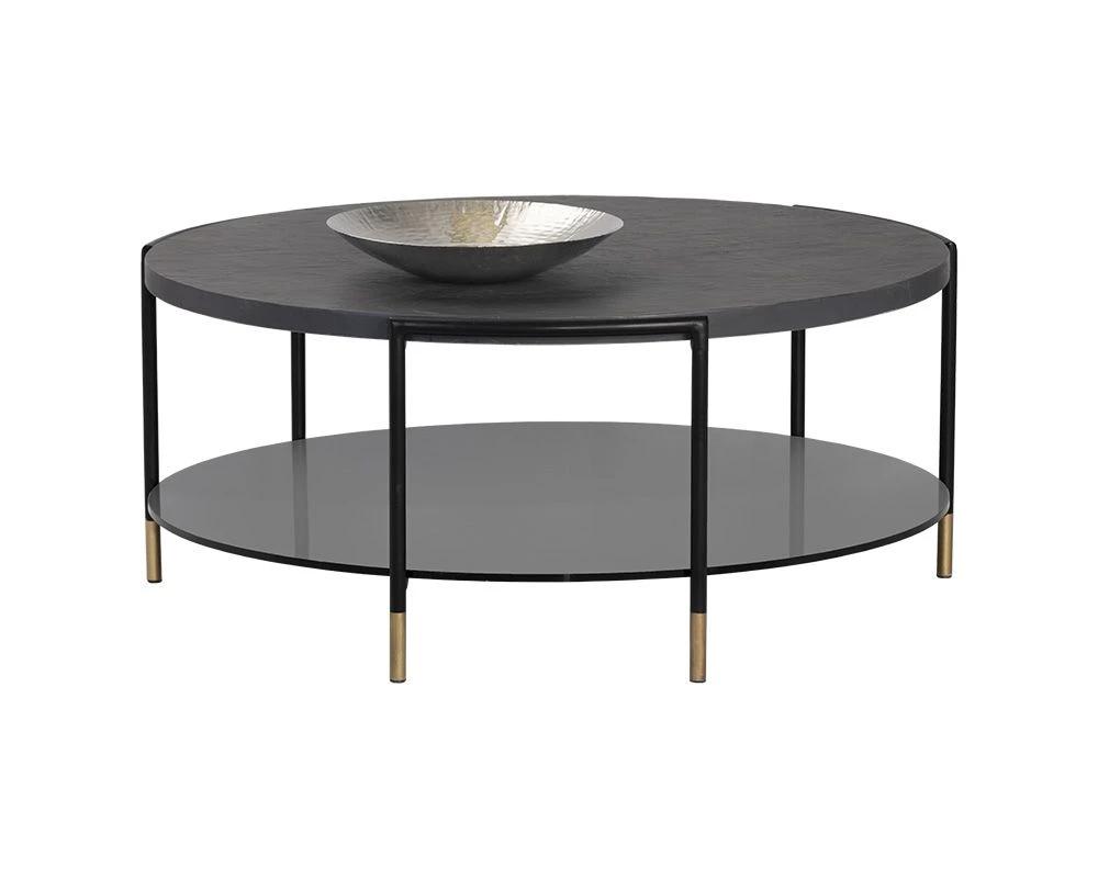 Sunpan Zuma Coffee Table Coffee Table Tempered Glass Shelves Table [ 800 x 1000 Pixel ]