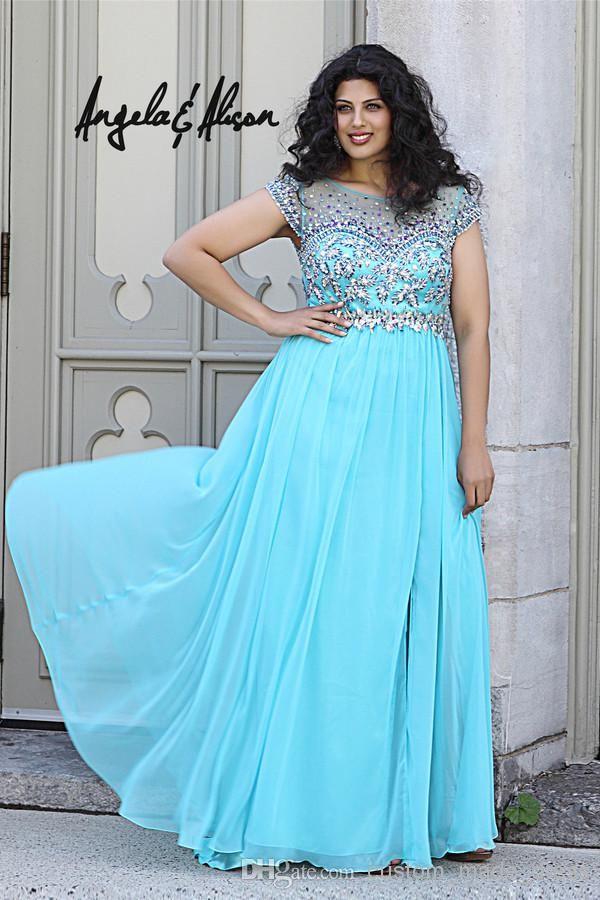 Wholesale Homecoming Dresses - Buy Tiffany Blue Sheer Beaded ...