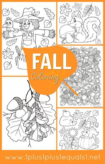 We Have A New Set Of Fall Coloring Pages For You The Idea Behind