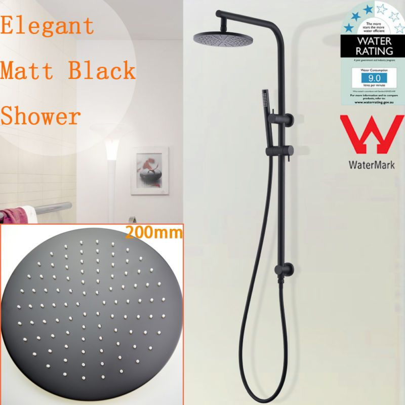 WELS 2IN1 Rainfall Shower Head Rainfall Handheld Sliding Rail Set ...