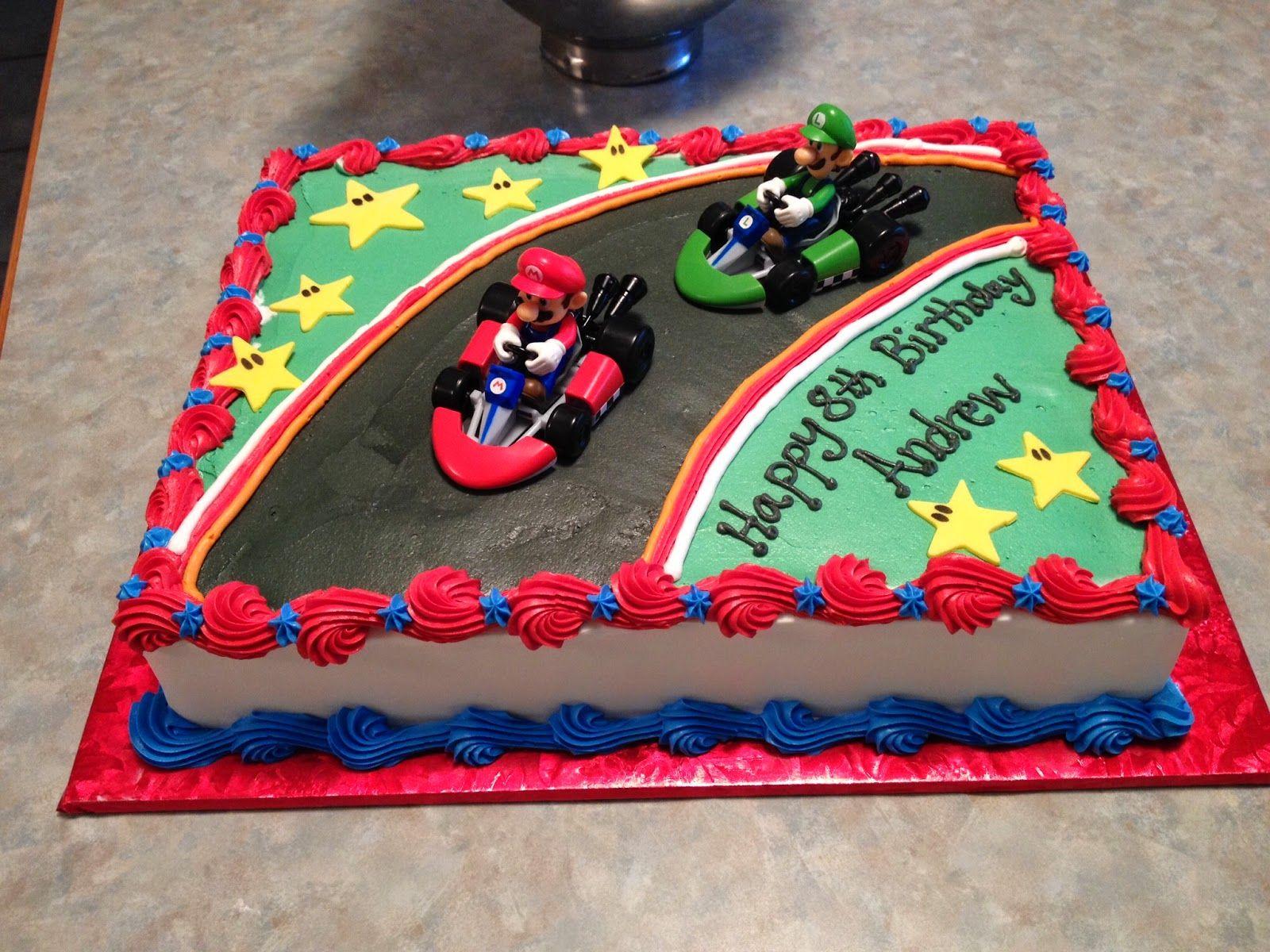 Mario Birthday Sheet Cake