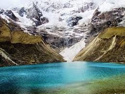 So lucky to be able to visit this incredible glacier lake in Peru this summer