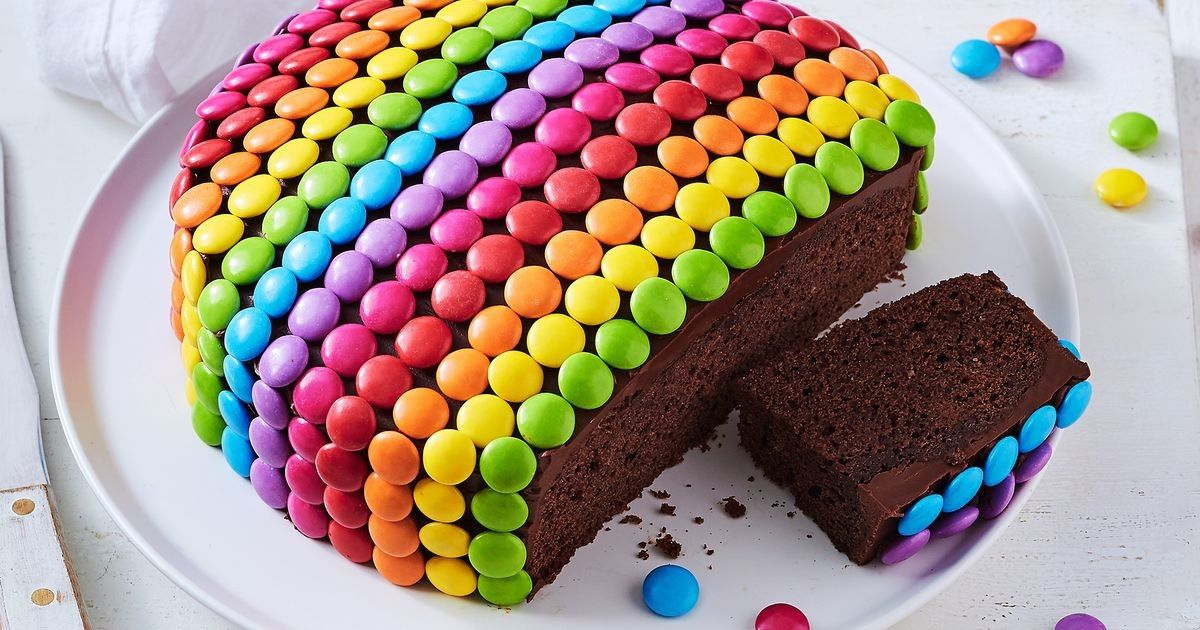 Amazing Smarties Chocolate Cake Recipe With Images Chocolate Cake Funny Birthday Cards Online Alyptdamsfinfo