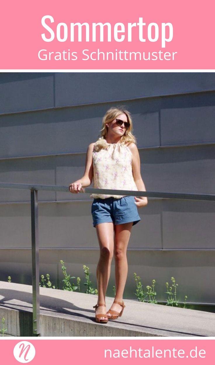 Luftiges Sommertop - Urlaubskoffer | Gratis schnittmuster, Magazin ...
