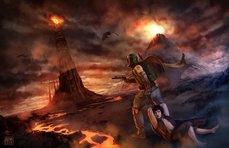 Lord Of The Rings Star Wars Crossover Star Wars Art Star Wars Pop Culture Art