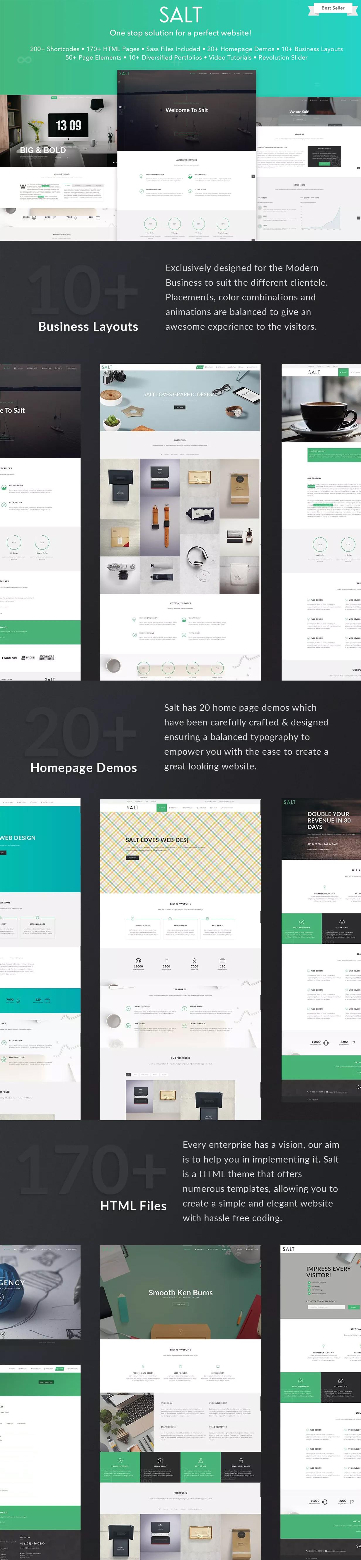 Salt - Multipurpose Business Website Template HTML | HTML Website ...