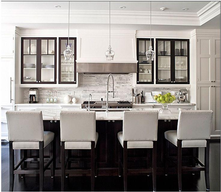 black metal upper cabinets - Google Search | Glass kitchen ...