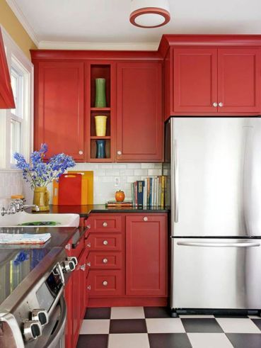 Amazing black and red kitchen decor 28