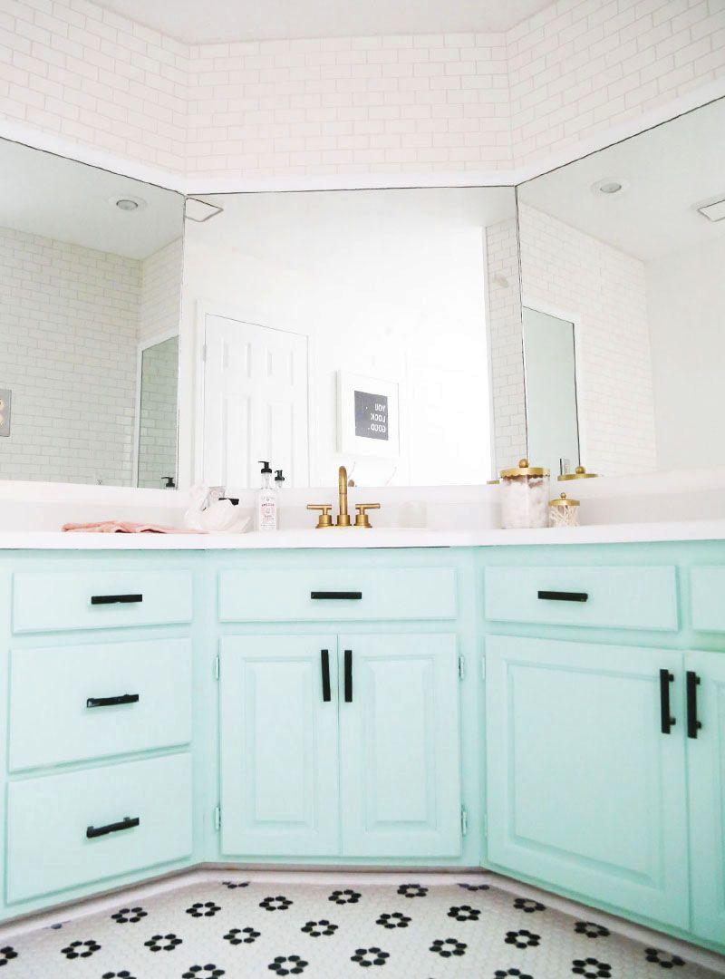 Bathroom Remodel Reveal   Pinterest   Painted bathroom cabinets ...
