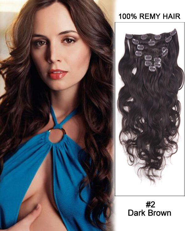 16 Inch 8pcs Body Wave Brazilian Clip In Remy Hair Extensions 2