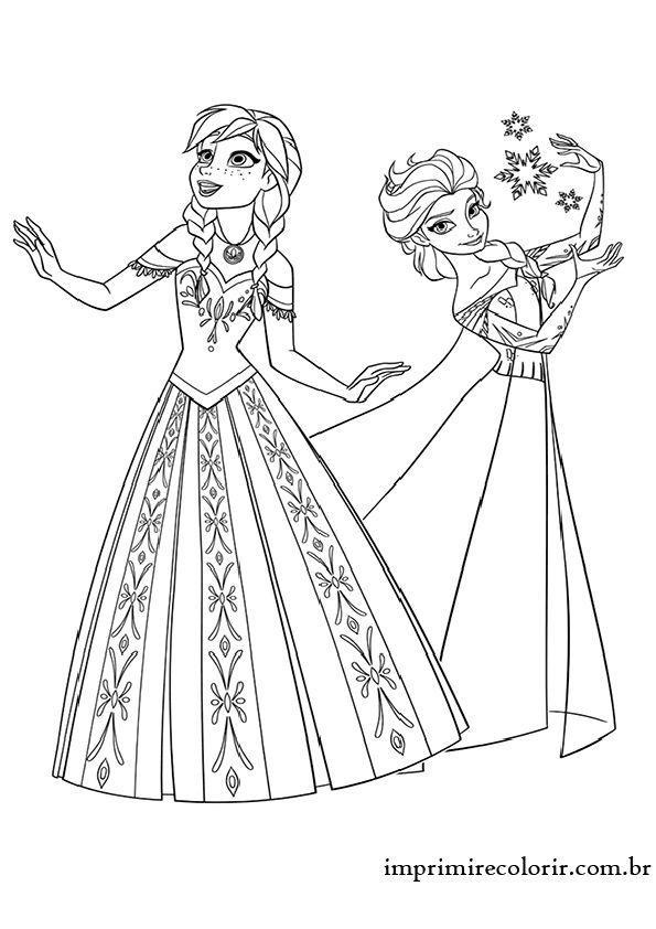 Desenhos De Pintar Imprimir E Colorir Com Imagens Frozen Para