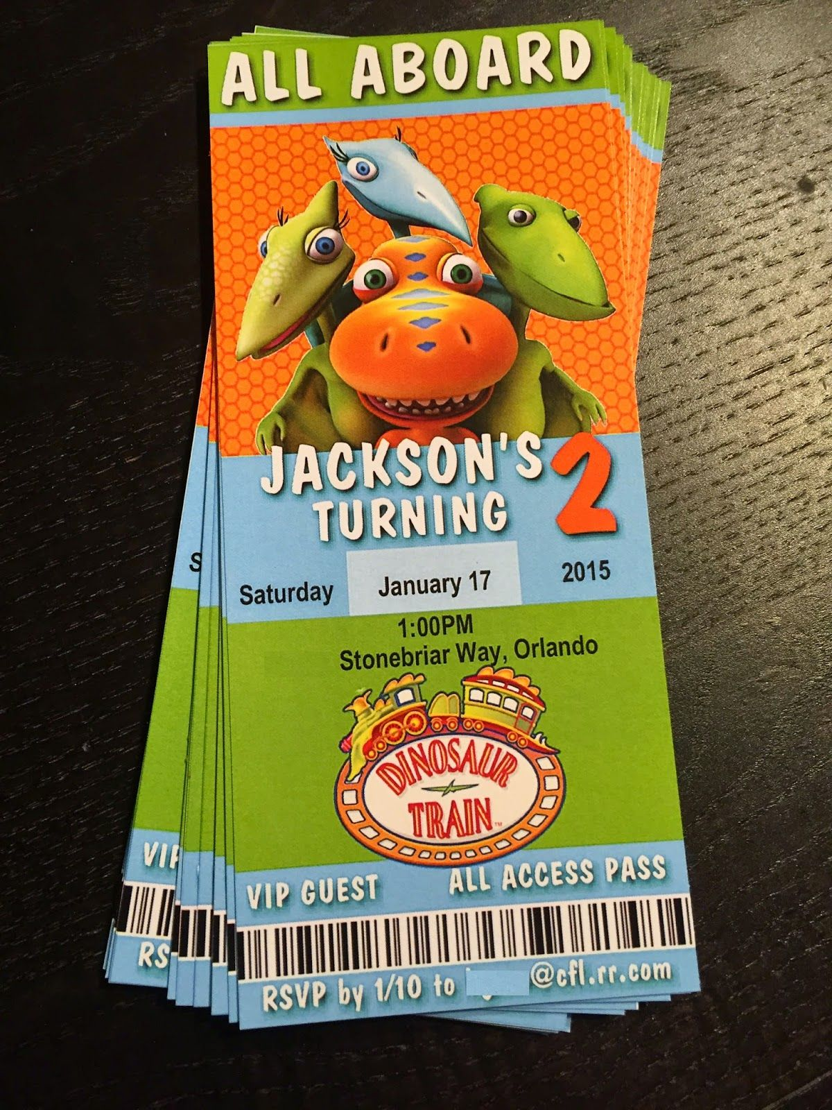 Dinosaur Train invitation Party with BELLS on