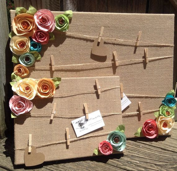 Cork board. Message board. Note board. Burlap shabby chic flowers. Prayer board #makeflowers