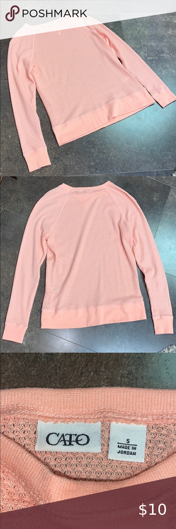 5 For 15 Cato Peach Pink Crewneck Sweater Pink Crewneck Crew Neck Sweater Sweaters [ 1740 x 580 Pixel ]