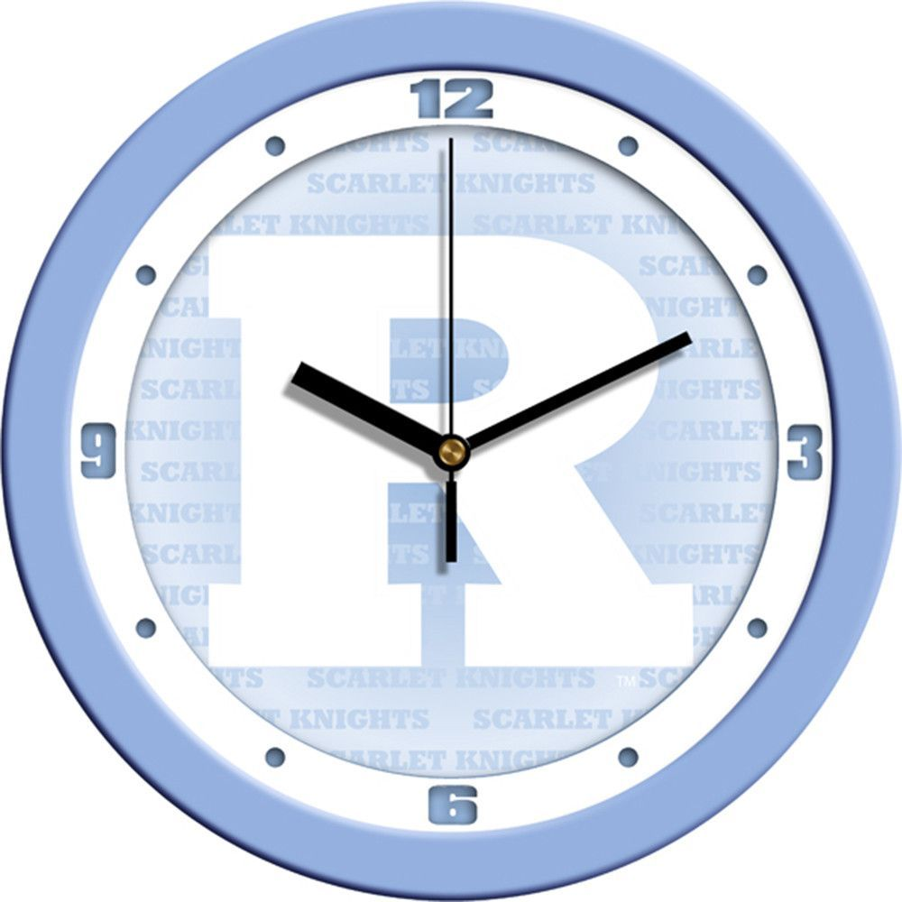 Rutgers Scarlet Knights NCAA Wall Clock Blue