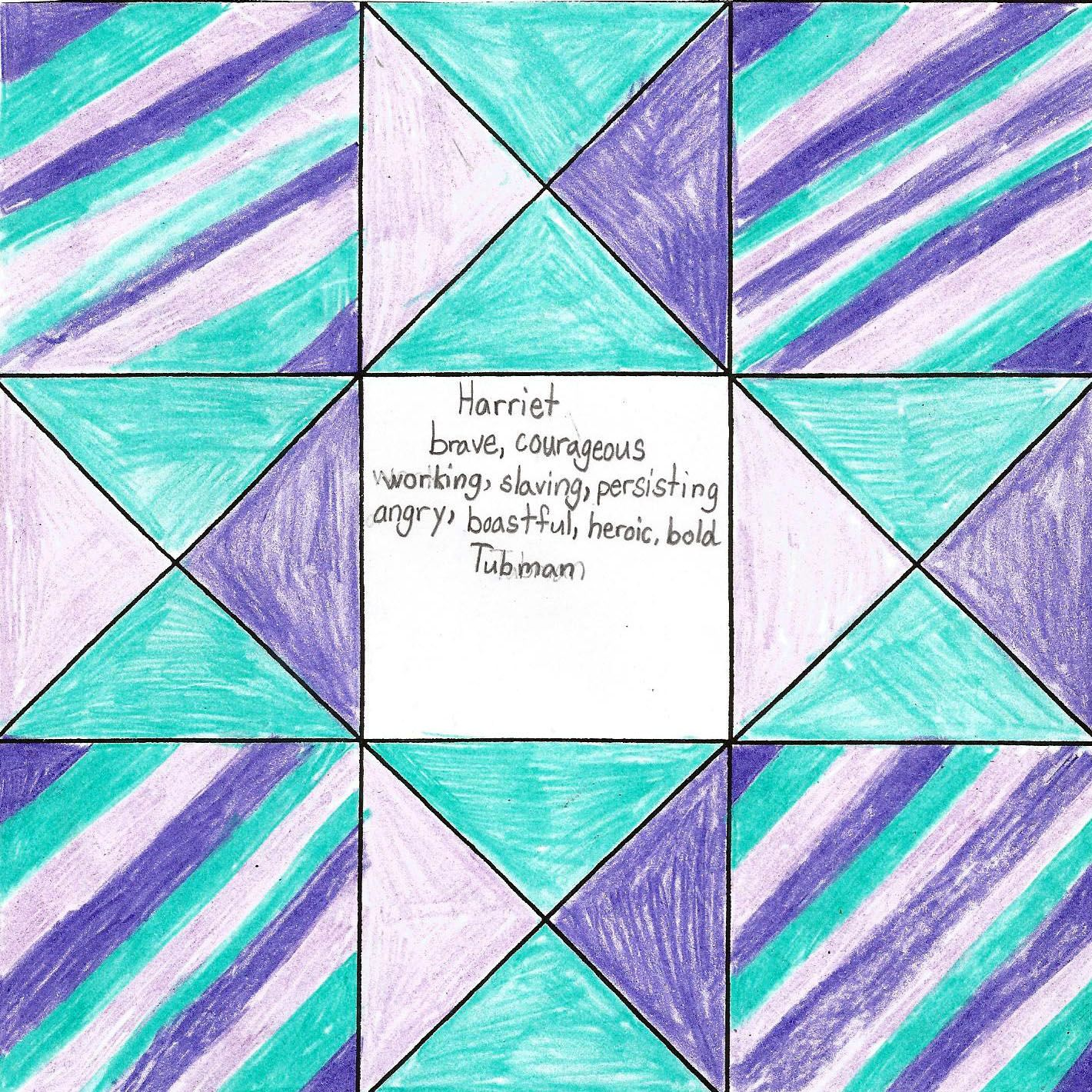 Senia Creates Cinquain Art For Harriet Tubman