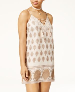 ff5aeea48b99b American Rag Juniors' Paisley-Print Slip Dress, Only at Macy's - Paisley  Print XXS