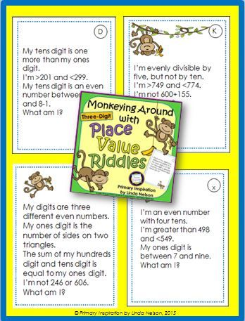 Place Value Riddles | Place values, 3rd grade math ... |Riddles For Second Graders